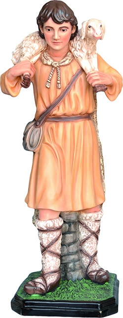 Pastore con agnello - presepio cm. 100
