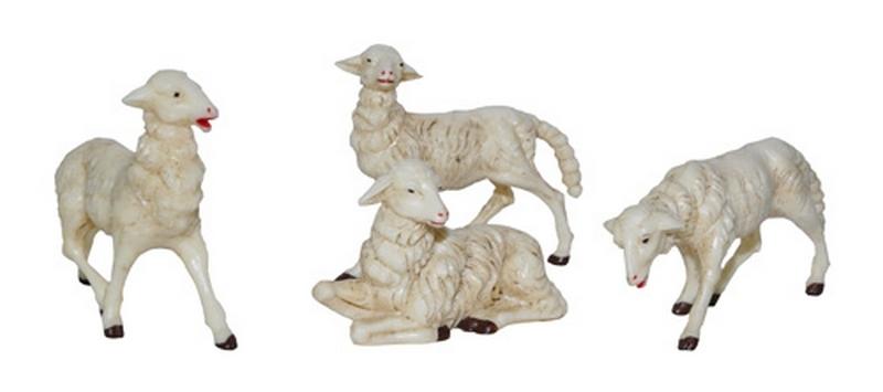 Busta 4 pecore per presepio cm. 30