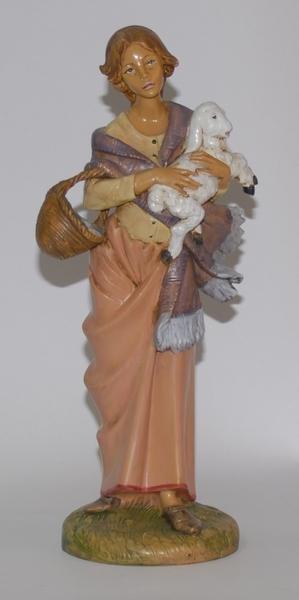 Donna con agnello cm. 30