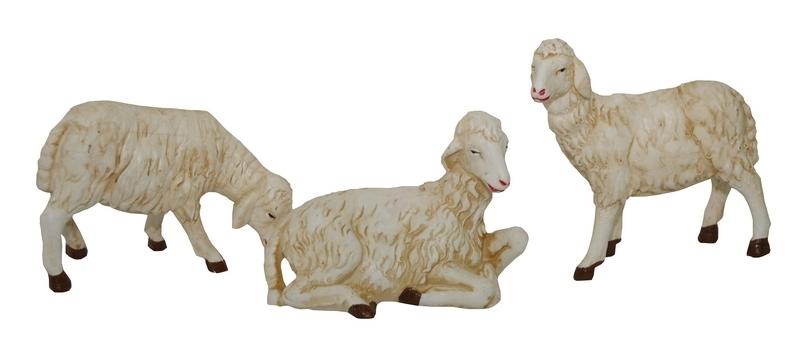 Busta 3 pecore in plastica adatte per cm. 45