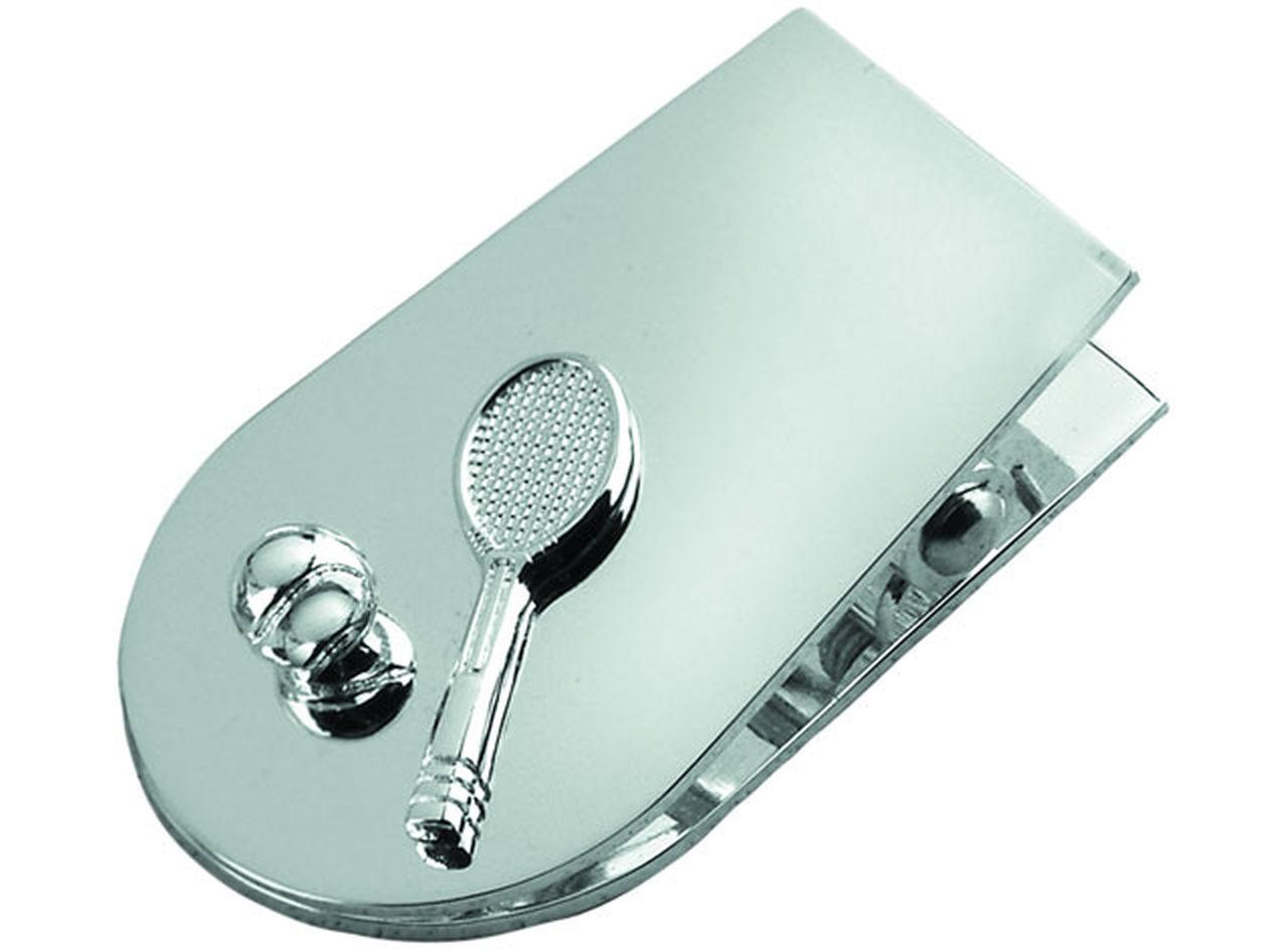 Memoclip tennis in silver plated cm.6,4x4x2h