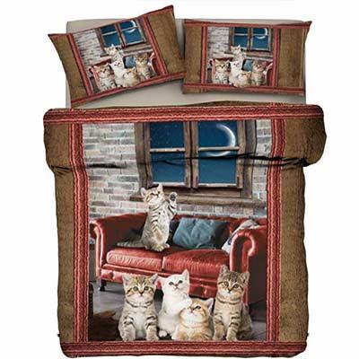Gattini in salotto. Copripiumini invernali al prezzo giusto!