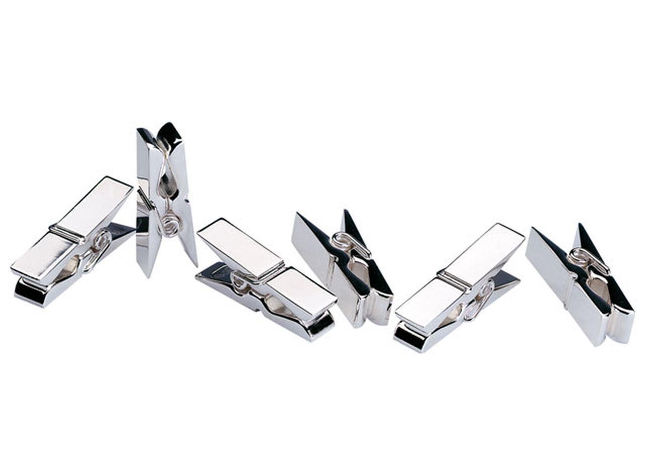 Memoclip mini silver plated set 6pz cm.3,2x0,8x0,8h