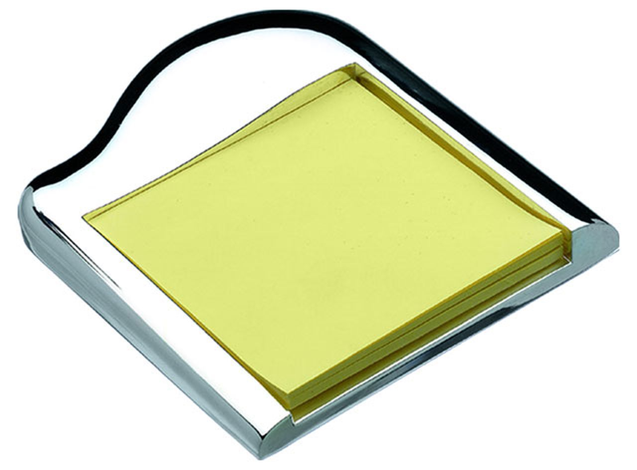 Porta post it in silver plated cm.12x10x2h