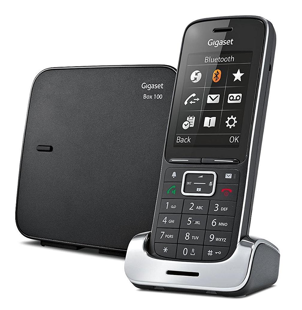 Gigaset SL450 Analog/DECT telephone Identificatore di chiamata Nero