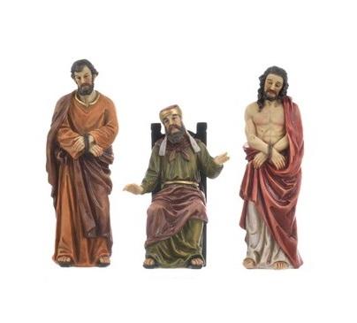 Gesù, Caifa e Barabba cm. 13 (3 pz)