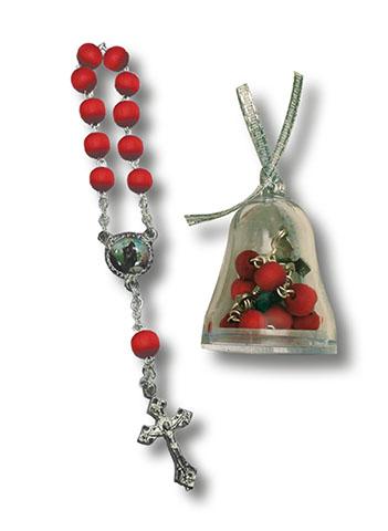 Decina rosario in legno S. Antonio Abate in scatolina