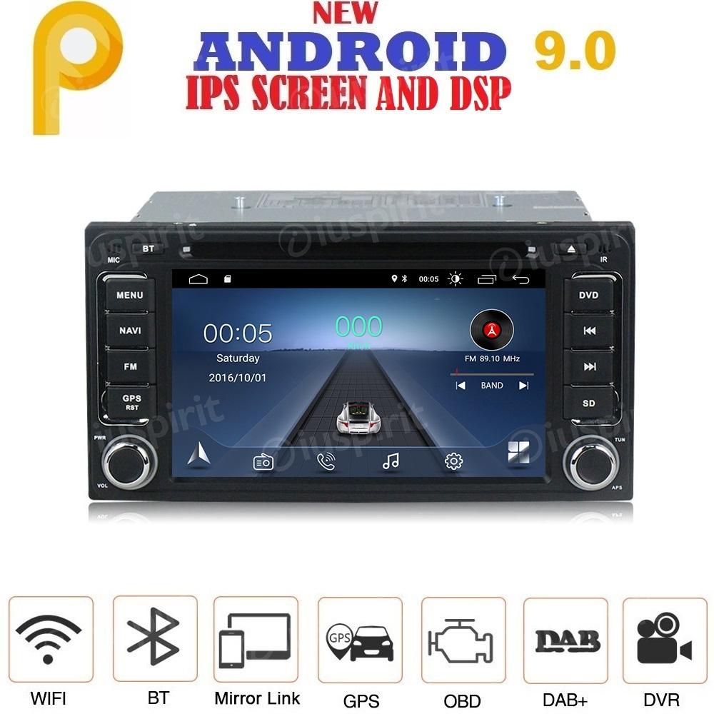 ANDROID 9.0 autoradio 2 DIN navigatore per Toyota Rav4 Corolla Alphard Innova Camry Land Cruiser Hilux Vios GPS DVD USB SD WI-FI Bluetooth Mirrorlink