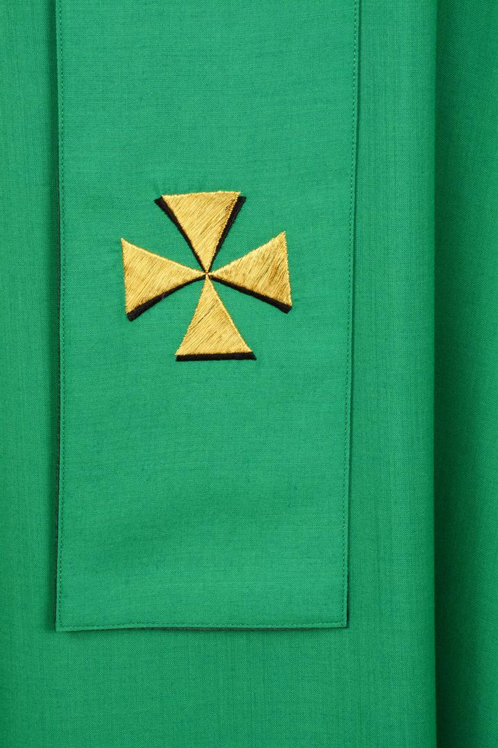Casula Concelebrazione CMP161T verde- Velo di ter. lana