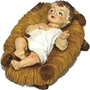 Gesù Bambino in culla cm. 3,5