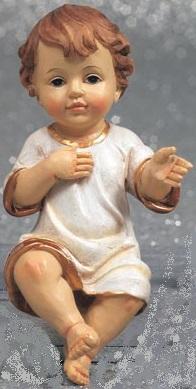 Gesù Bambino in resina cm. 16