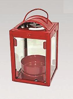 Lanterna in metallo rossa cm. 8,5