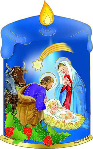 Immagine in pvc candela Natività