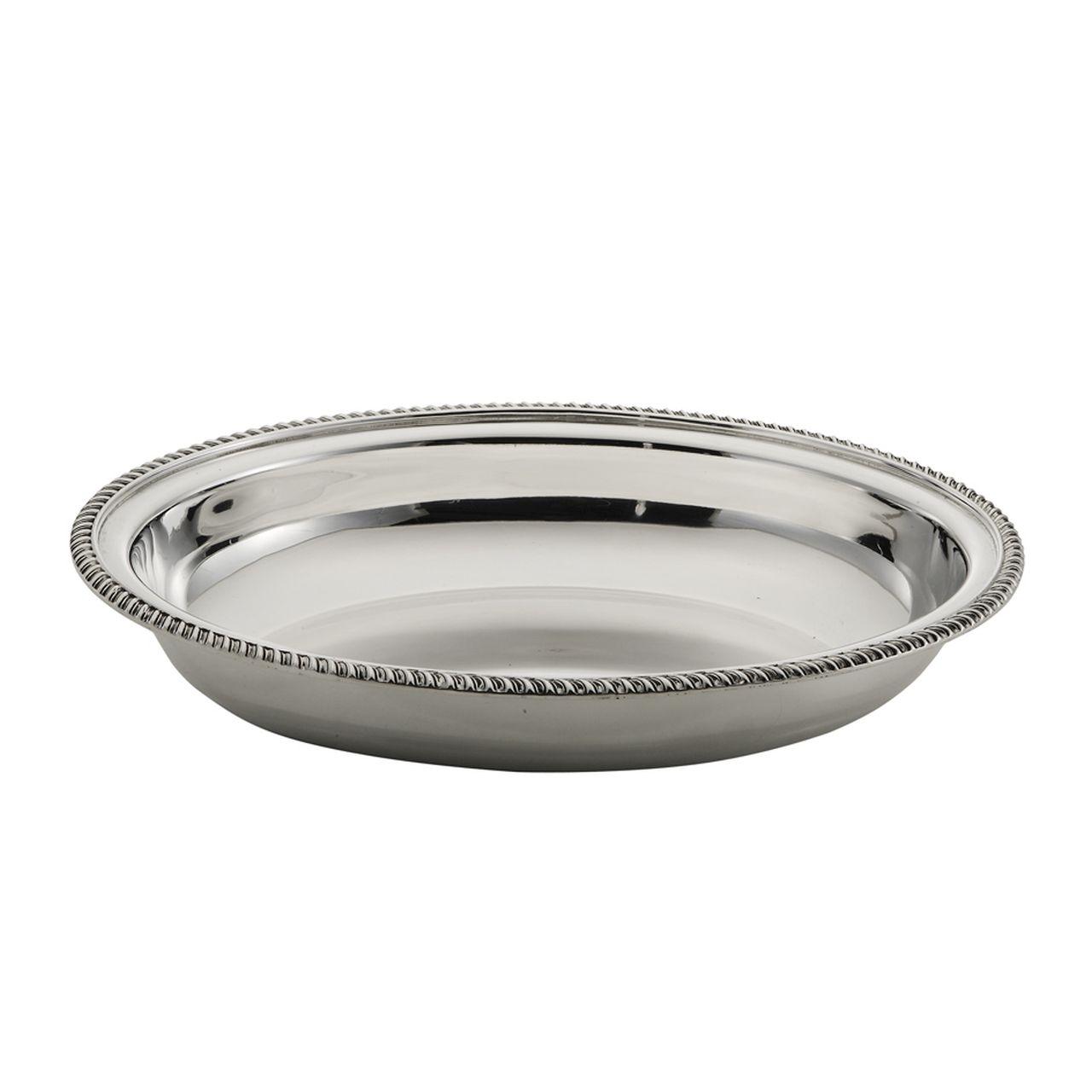 Cestino ovale placcato argento stile Regina Anna cm.35x27