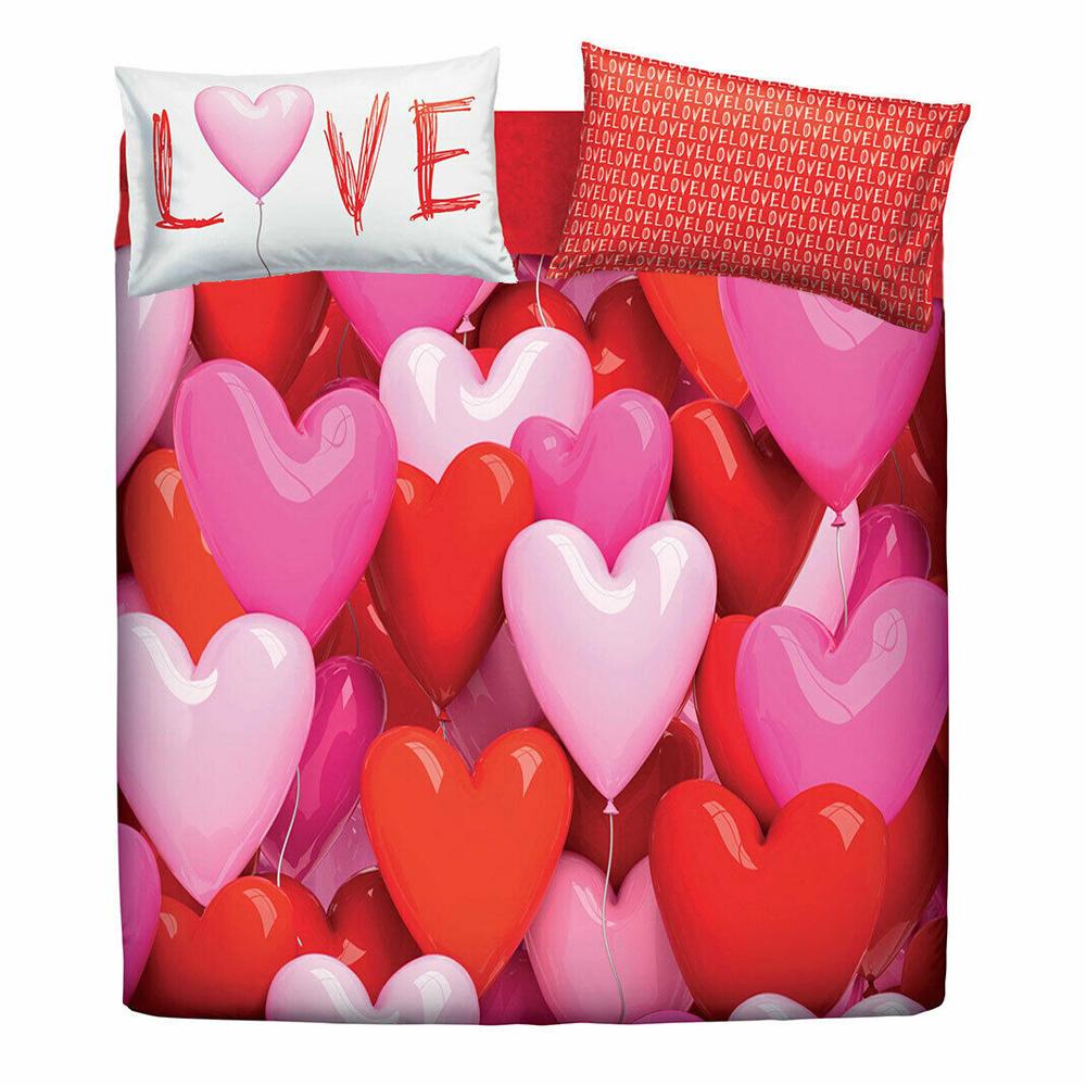 Misure Copripiumino Matrimoniale Bassetti.Set Copripiumino Matrimoniale Bassetti Love Party Cuori Ebay