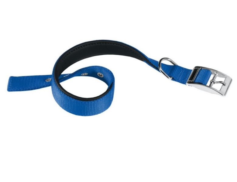 Collare in nylon blu con soffice imbottitura