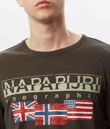 T-shirt uomo NAPAPIJRI SCOTT manica lunga