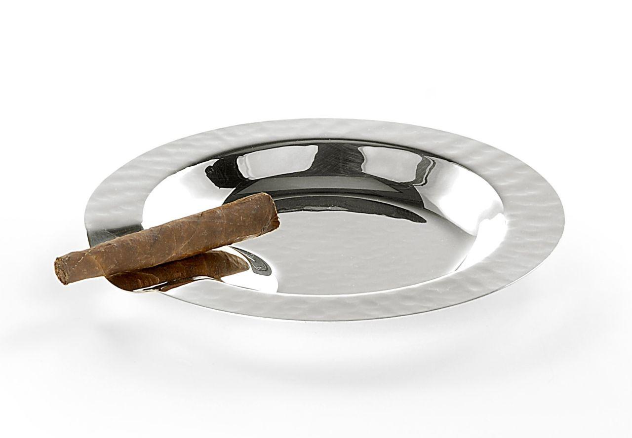Posacenere tondo placcato argento