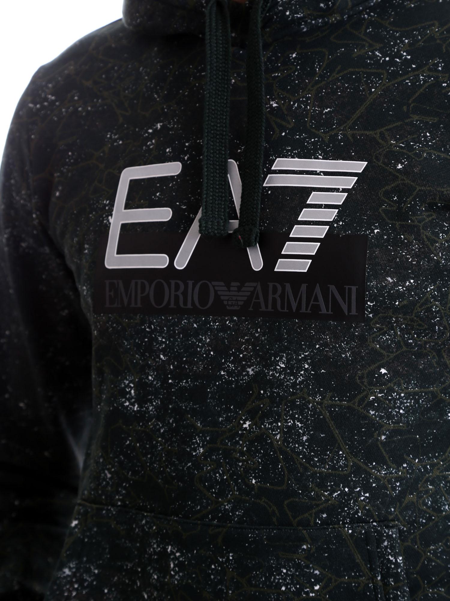 Felpa uomo ARMANI EA7 con maxi logo