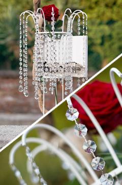 Noleggio lampadari e allestimenti vetro per wedding, scenografie, catering