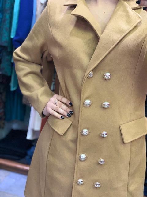 Cappotto DoppioPetto con bottoni 2 colori Taglia M e L