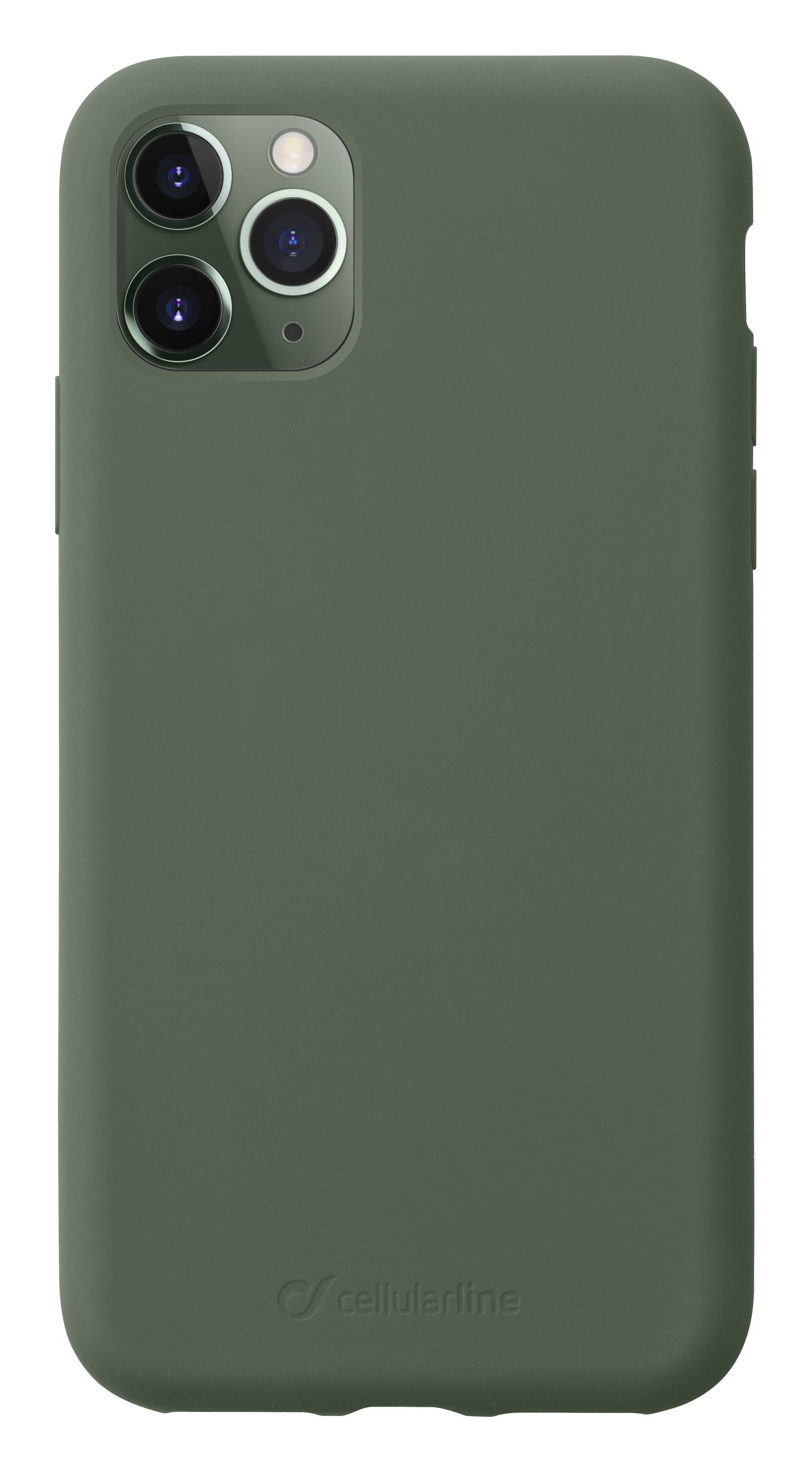 Cellularline Sensation - iPhone 11 Pro Custodia in silicone soft touch Verde
