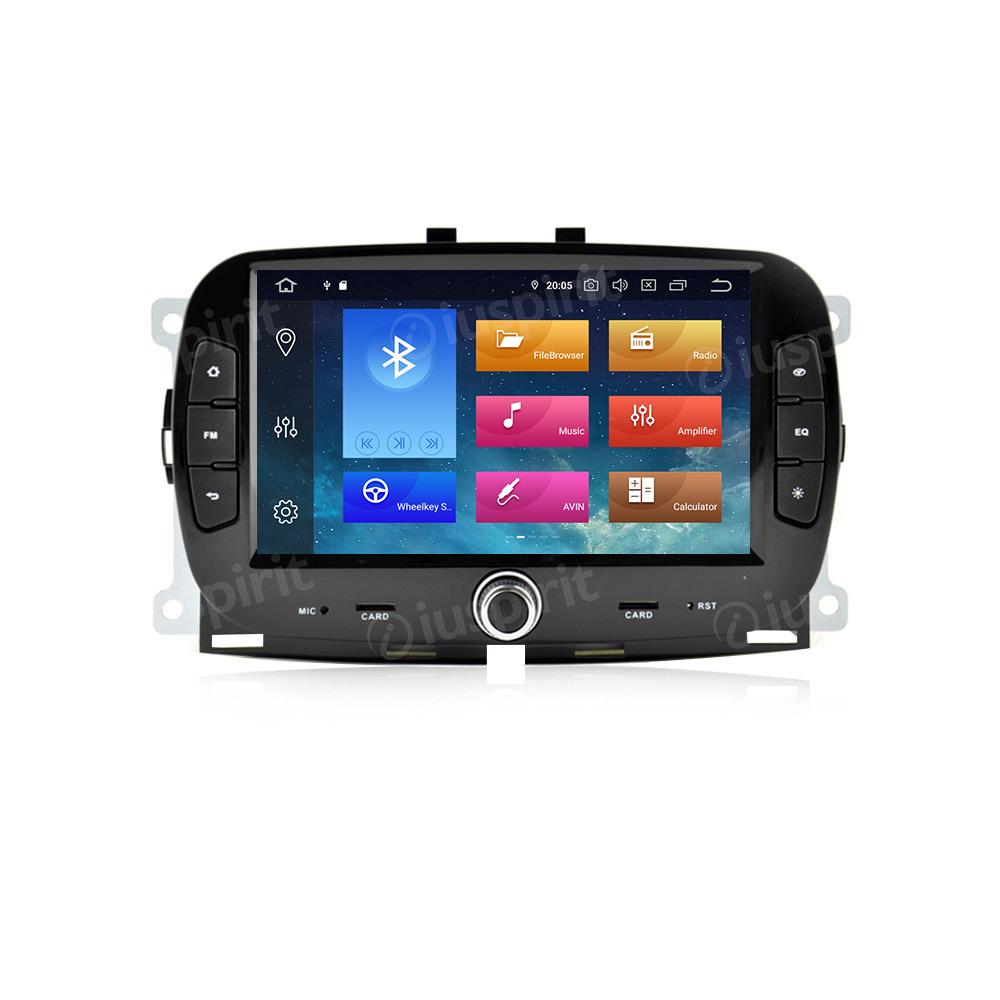 ANDROID 10 autoradio navigatore per Fiat 500 2016 2017 2018 2019 GPS SD WI-FI Bluetooth MirrorLink