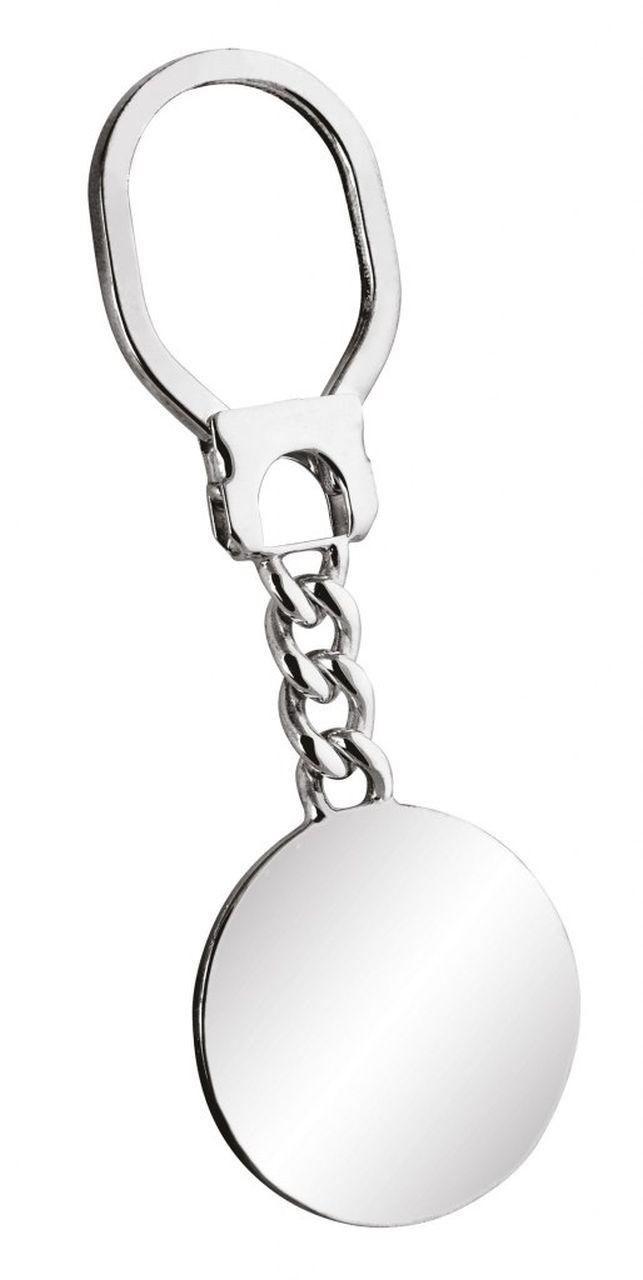 Portachiavi in argento 925 tondo