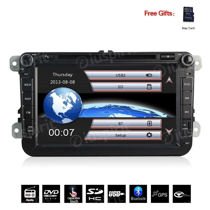 Autoradio 2 DIN navigatore per Passat Golf 6 Golf 5 Tiguan Jetta Polo Touran Caddy GPS DVD USB SD Bluetooth