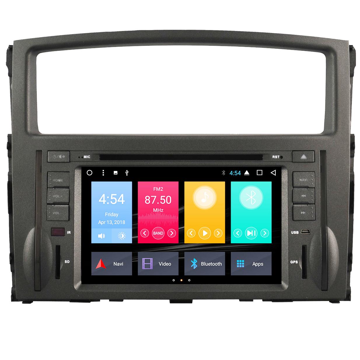 ANDROID autoradio 2 DIN navigatore per Mitsubishi Pajero 2006-2011 GPS DVD WI-FI Bluetooth MirrorLink