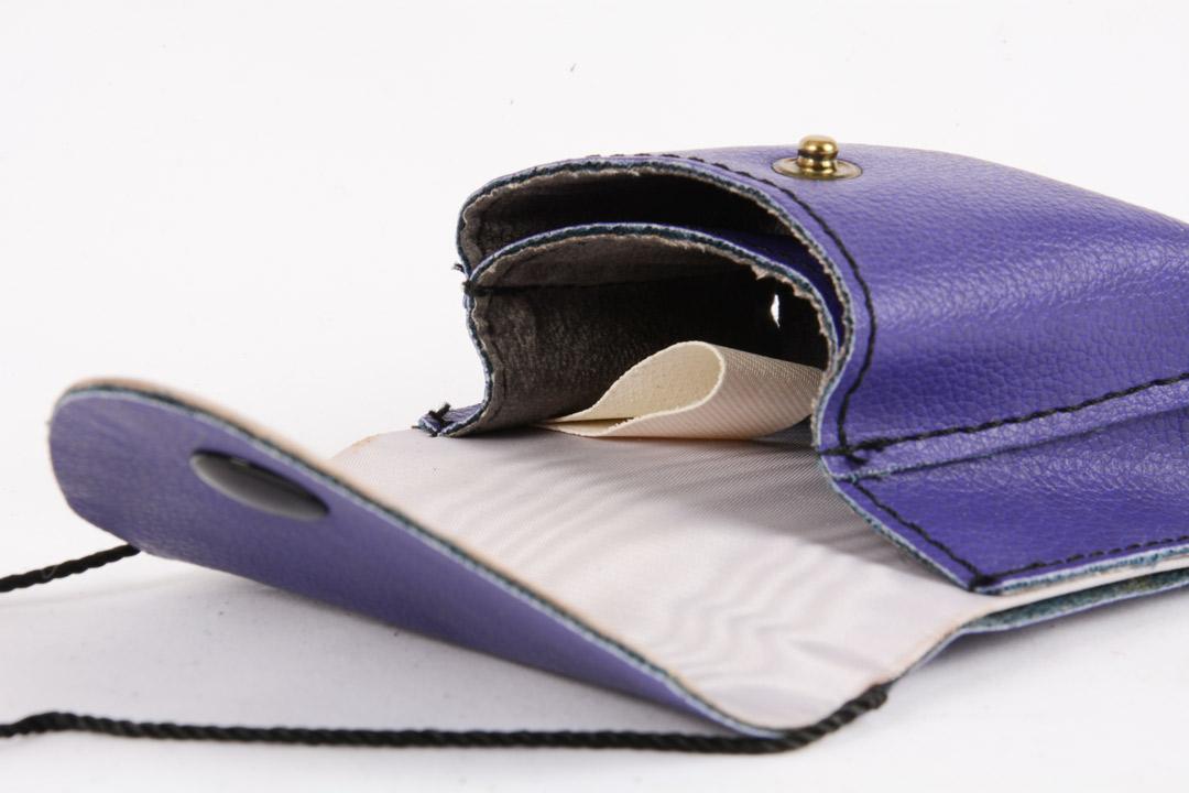 Porta Teca Eucaristia con due scomparti colore viola