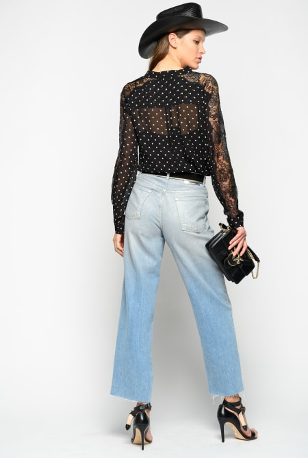 SHOPPING ON LINE PINKO JEANS MOM-FIT EFFETTO METALLIZZATO MADDIE 3  NEW COLLECTION WOMEN'S SPRING SUMMER 2020