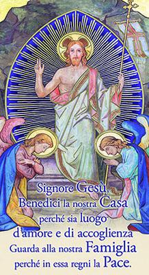 Benedizione Cristo Risorto 12x22 con oro (100 pz)