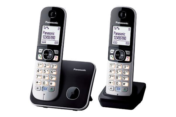 Panasonic KX-TG6812 Telefono DECT Nero, Grigio Identificatore di chiamata
