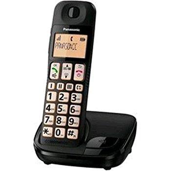 Panasonic KX-TGE110 Telefono DECT Nero Identificatore di chiamata
