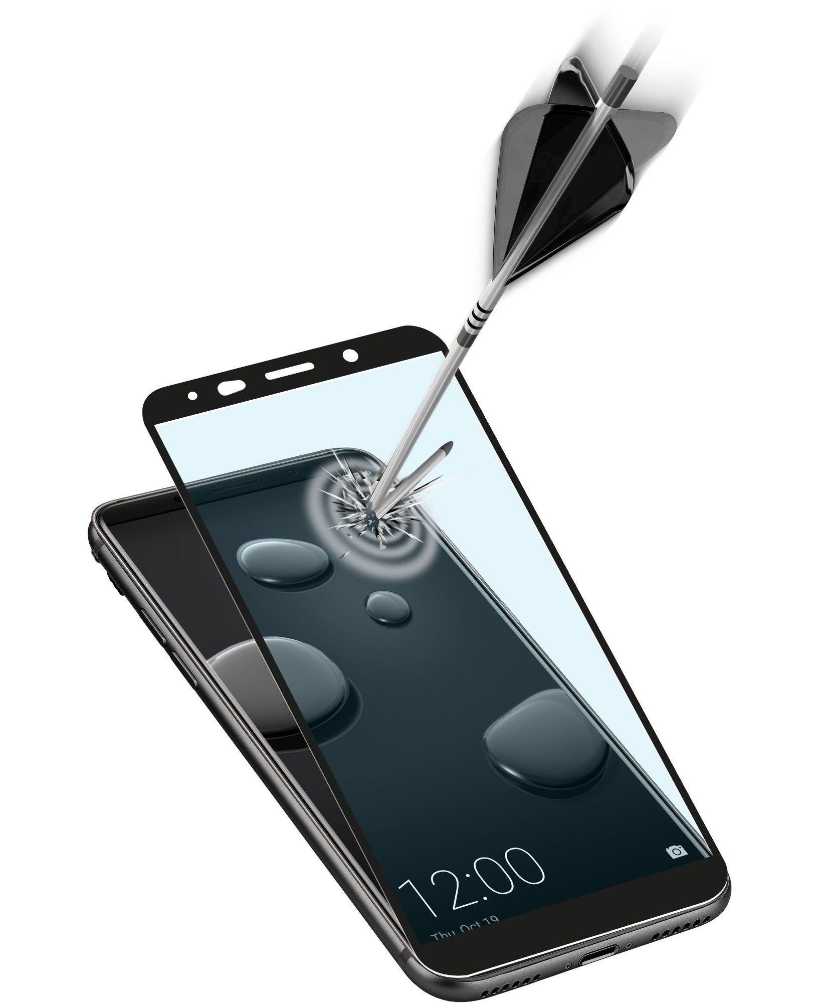 Cellularline Second Glass Ultra Capsule - Mate 10 Pro Vetro temperato ultra resistente da bordo a bordo Nero.Trasparente