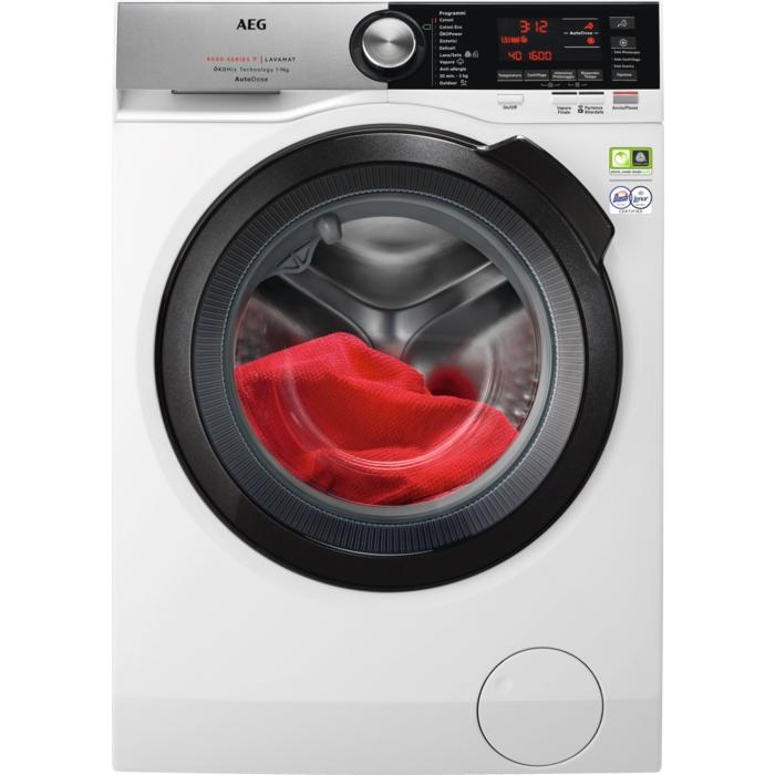 AEG L8FC96BQ lavatrice Libera installazione Caricamento frontale Bianco 9 kg 1600 Giri/min A+++-50%