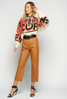 SHOPPING ON LINE PINKO FELPA CROPPED CON FRANGE RISO NEW COLLECTION WOMEN'S SPRING SUMMER 2020