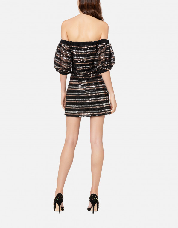 Minidress a righe in paillettes PHILOSOPHY
