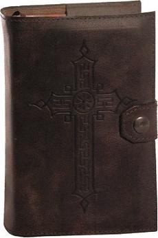 Coprilibro Liturgia delle ore volume unico stampa oro caldo cuoio rigenerato