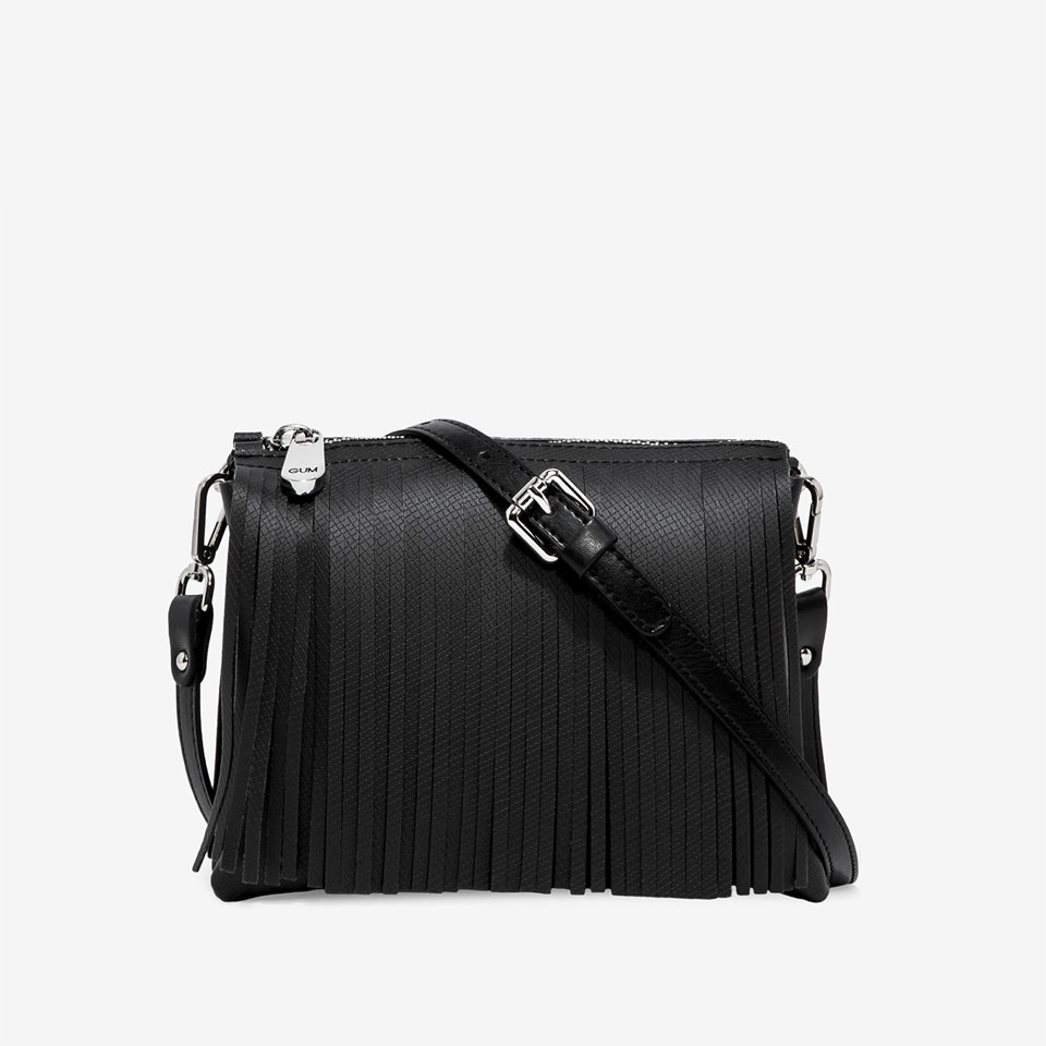 SHOPPING ON LINE  GUM BORSA A TRACOLLA TWO MEDIA BRONZO-NERO-ARGENTO- NEW COLLECTION WOMEN'S SPRING SUMMER 2020