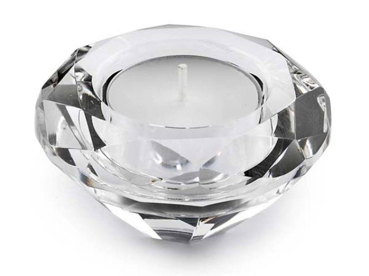 Portacandela a forma di diamante