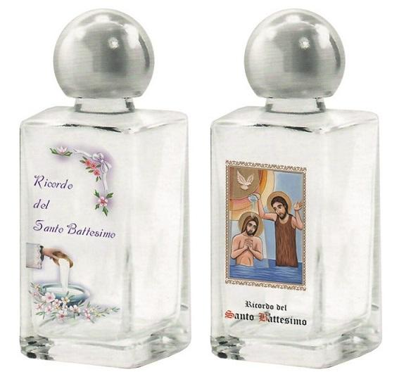 Bottiglietta in vetro ricordo Santo Battesimo