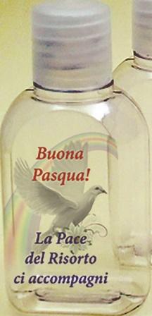 Bottiglietta plastica 50 ml. (100 pz) Buona Pasqua