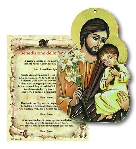 Tavoletta S. Giuseppe con benedizione Famiglia