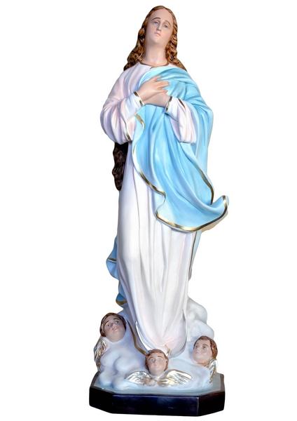 Madonna Assunta del Murillo in vetrorersina cm. 130