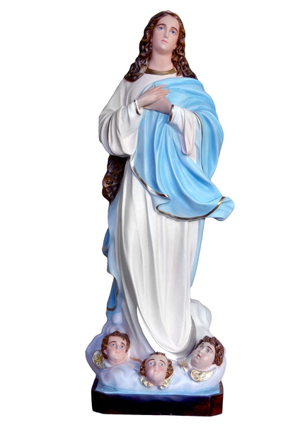 Madonna Assunta del Murillo in vetrorersina cm. 155