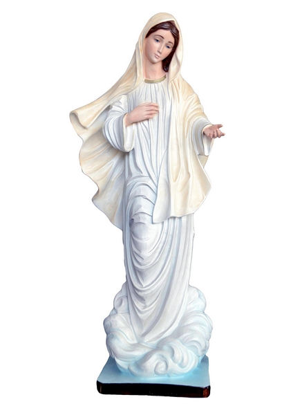Madonna di Medjugorje in resina cm. 60