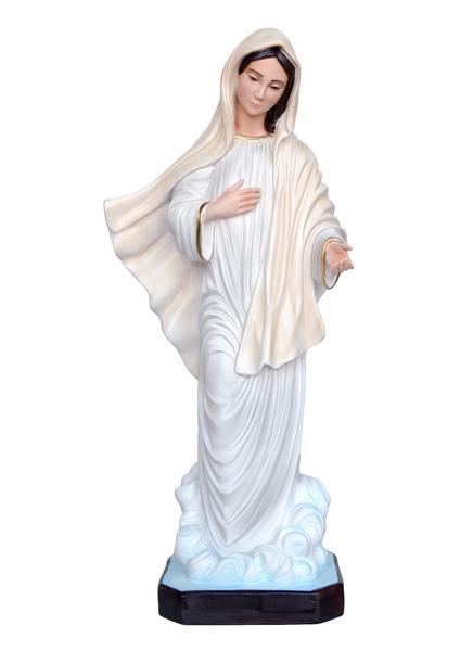 Madonna di Medjugorje in resina cm. 80