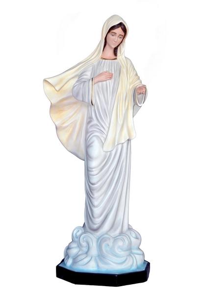 Madonna di Medjugorje in vetroresina cm. 130